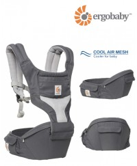 Ergobaby Hip Seat Carrier Cool Air Mesh - Carbon Grey