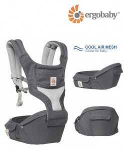 Ergobaby Hip Seat Carrier Cool Air Mesh - Carbon Grey