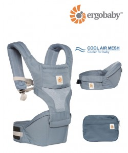 Ergobaby Hip Seat Carrier Cool Air Mesh - Oxford Blue