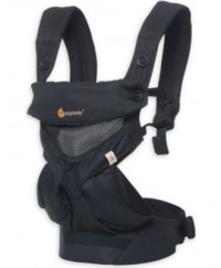 Ergobaby Four Position 360 Baby Carrier - Cool Air Mesh (Onyx Black)