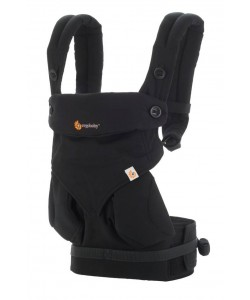 Ergobaby Four Position 360 Baby Carrier Natural - Pure Black