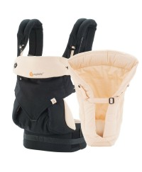 Ergobaby Bundle Four Position 360 Baby Carrier - Black/Camel