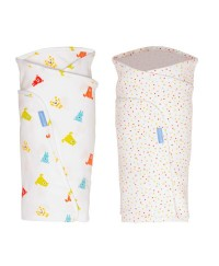 The Gro Bag Swaddle Spotty Bear - Twin Pack
