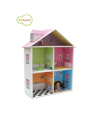 Krooom Pretend Play - Melrose Dollhouse with furniture