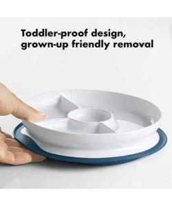 OXO Tot Stick & Stay Suction Divided Plate (NEW)
