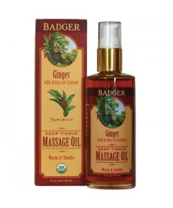 Badger Ginger Deep Tissue Massage Oil(4oz)