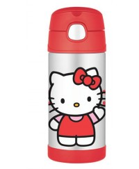 Thermos Hello Kitty Ice Cold Straw Bottle 350ml
