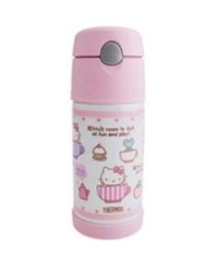 Thermos Hello Kitty Ice Cold Straw Bottle Pink