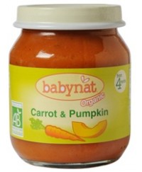 Babynat Organic Carrot Pumpkin Jar - from 4 months (130g)