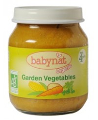 Babynat Organic Garden Vegetable Jar - from 4 months (130g)