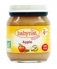 Babynat Organic Apple Jar - from 4 months(130g)