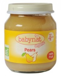 Babynat Organic Pear Jar - from 4 months (130g)