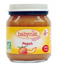 Babynat Organic Peach Jar - from 4 months (130g)