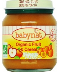 Babynat Organic Fruit & Cereal - from 4 months (130g)