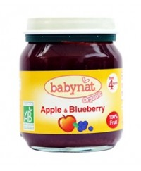 Babynat Organic Apple Blueberry Jar - from 4 months (130g)