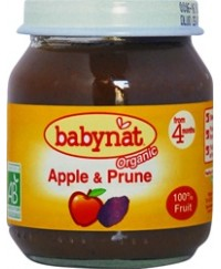 Babynat Organic Apple-Prune Jar - from 4 months (130g)