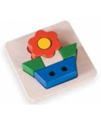 Blue Ribbon: Tray Puzzles: Flower Puzzle