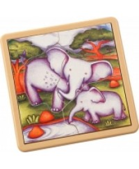 Voila Safari Jigsaw Elephant A  6 piece puzzle for young learners - Safari animal Elephant