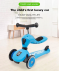Kids Scooter Convertible 2 in 1 ( Scoot + Ride On ) - Little Snail Baby First Push Bike and Scooter From 1-5 Years Old